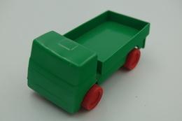 Vintage VINYL TOY CAR : Maker WADER SPIELEN & ERLEBEN GERMANY - Green Truck - 9.00cm - 1980-90's - Rubber - Voitures, Camions, Bus