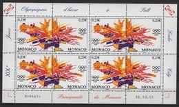 MONACO 2002 -  Y. T. N° 2336 Et 2337 - 4 DUO  EN FEUILLE - 8 TP NEUFS ** - Bloques