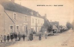 21 - CPA ETEVAUX Café Louet  RARE - Francia