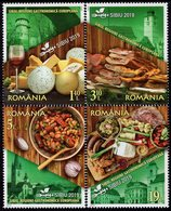 Romania - 2019 - Sibiu - European Region Of Gastronomy - Mint Stamp Set - 1948-.... Republics
