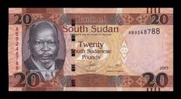 South Sudan Del Sur 20 Pounds 2015 Pick 13a SC UNC - Südsudan