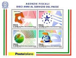 92210) ITALIA-Agenzie Fiscali - BLOCCO FOGLIETTO - 10 Marzo 2011  - 25 Marzo 2007  - MNH** - Blocks & Sheetlets