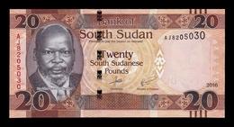 South Sudan Del Sur 20 Pounds 2016 Pick 13b SC UNC - Südsudan