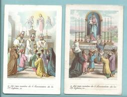 Lot De 2 Image Pieuse Oeuvre De La Sainte Enfance Objet De L'association  Recto Et Prière A L'enfant Jésus Enfant Asie - Devotion Images
