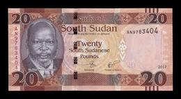 South Sudan Del Sur 20 Pounds 2017 Pick 13c SC UNC - Südsudan