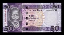 South Sudan Del Sur 50 Pounds 2017 Pick 14c SC UNC - Südsudan