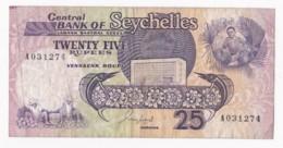 Seychelles, 25 Rupees 1989, N° A031274 - Seychelles