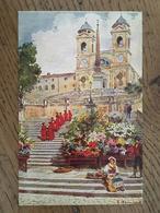 CPA, ROMA, TRINITA Dei Monti,  ILLUSTRATEUR, Illustration Raimondi,non écrite, éd Scrocchi, Milano - Roma (Rome)