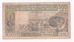 NIGER B.C.E.A.O  500 Francs 1986 H Alphabet S.15 N° H 566176 - Niger