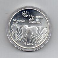 Canada - 1976 - 5 Dollari - XXI^ Olimpiadi Di Montreal Del 1976- Argento 925 - Peso 24,3 Grammi - In Capsula - (MW2685) - Canada