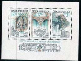 CZECH REPUBLIC 2001 Millenary Of Czech Architecture MNH / ** .  Michel Block 14 - Blocks & Sheetlets