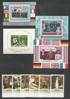 PHILIPPINES - AJMAN - UMM AL QIWAIN - MNH - Famous People - Kennedy - Napoleon - Perf. + Imperf. - Kennedy (John F.)