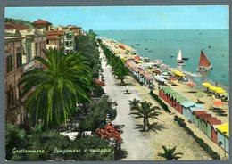 °°° Cartolina - Grottammare Lungomare E Spiaggia Viaggiata °°° - Ascoli Piceno