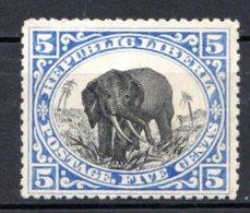 LIBERIA (République) - 1905 - N° 83 - 5 C. Outremer Et Noir - (Eléphant) - Liberia
