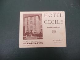 Photographie De HOTEL CECIL à JUAN LES PINS  Rue Jonnard - La Plage - Tourism Brochures
