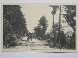 Cpa, Trés Belle Vue Animée, LA LOUVESC, Route D' Annonay - La Louvesc