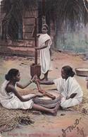 Bengali Girls Grinding Rice, India, PU-1906 - India