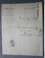Facture De Chaises  1901 SAVINES Fabrique De Meubles  Atelier De Menuiserie Succursale TOULON MOURILLON  23 Rue Lamalgue - Francia