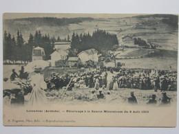 Cpa, Trés Belle Vue Animée, LA LOUVESC, Pélerinage à La Source Miraculeuse Du 9 Août 1903 - La Louvesc