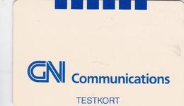 Denmark, DK-TST-GNT-0008, 1992, GN Communications With Logo And TESTKORT, No Value, 2 Scans - Danemark