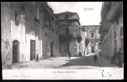 BRINDISI - 1905 - VIA ANTONIO TARANTINO - BELLA ANIMAZIONE! - Brindisi