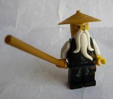FIGURINE LEGO NINJAGO - SENSEI WU BLACK OUTFIT 2011 Légo - Figurines