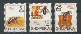 257 ALBANIE 1995 - Yvert 2322/24 - Abeille Apiculture - Neuf ** (MNH) Sans Charniere - Albania