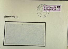 DDR-Dienst: Orts-Brief Mit 10 Pf ZKD-Streifen Violett Vom14.2.57 Aus Dresden A 1 Knr: B 6 - Service