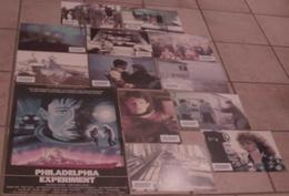 AFFICHE CINEMA ORIGINALE FILM PHILADELPHIA EXPERIMENT + 12 PHOTOS EXPLOITATION SCIENCE FICTION BÂTEAU GUERRE 1984 - Posters