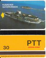 TURKEY - Kusadasi/Pigeon Island(PTT-30 Units), Used - Turquie
