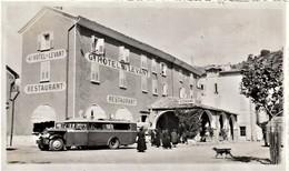 Rare Pas Carte Mais Photo Du Grand Hôtel Du Levant à Castellane Avec Bus Touristes Années 20-30 - Castellane