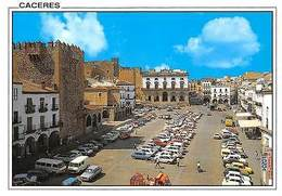 Spain Caceres Plaza Mayor Square Voitures Cars Auto - Spain