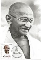 CARTE MAXIMUM - MAXICARD - TARJETA MAXIMA - MAXIMUM CARD - PORTUGAL - 150 ANS DE LA NAISSANCE DE MAHATMA GANDHI - Mahatma Gandhi