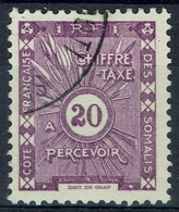 French Somali Coast, 20c., Postage Due, 1938, VFU - French Somali Coast (1894-1967)
