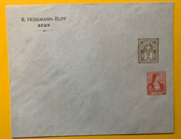 9271 -  Entier Postal Privé R.Hossmann-Rupf Bern Type Chiffre 2ct & Buste Helevetia 10 Ct - Entiers Postaux