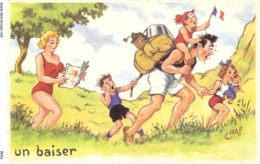 CPH 018 , OLD POSTCARD , HUMOR FANTASY , Signed CHAP - Humour