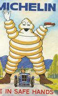 Michelin Tyres Be In Safe Hands Advertising Postcard - Advertising