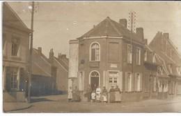 """CARTE-PHOTO NORD 59 WW1 RONCQ Estaminet """" A La Descente De Bousbecque """" Carrefour Rue De Lille Et Rue De Bousbecque - Autres Communes"""