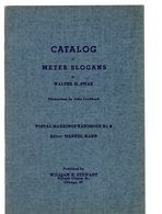 Catalog Of Meter Slogans By  Swan         1939 - Oblitérations Mécaniques