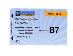 STATI UNITI  KEY CABIN  Royal Caribbeans - VOYAGER OF THE SEA -   Shipping Company - Hotelkarten