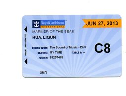 STATI UNITI  KEY CABIN  Royal Caribbeans - MARINER OF THE SEA -   Shipping Company - Cartes D'hotel