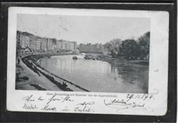 AK 0371  Wien - Obere Donaustrasse Und Kaiserbad Von Der Augartenbrücke Um 1899 - Wien Mitte