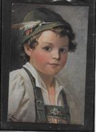 AK 0371  Fescher Junge In Tracht - Künstlerkarte Um 1917 - Portraits