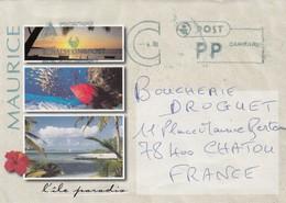 COVER. MAURITIUS. ROYALVIKINGPOST. POST PP DANMARK TO FRANCE   /   2 - Danemark