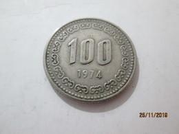 KOREA SOUTH 100 Won 1974  # 2 - Korea, South