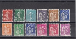 France - 1937-39 - N° YT 360/71** Timbres D'usage Courant - 1932-39 Paix
