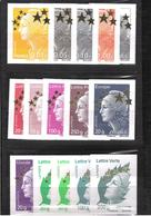 "2012 -   TYPE MARIANNE De L'EUROPE    -    N° 4662A à 4662Q  -  MAXI MARIANNES  "" ETOILE D'OR "" - COTE 150 Euros - France"