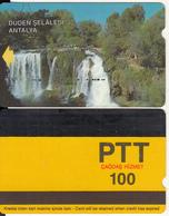 TURKEY - Duden Waterfalls/Antalya(PTT-100 Units), Used - Turquie
