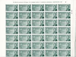 España Nº 1790 En Pliego De 50 Sellos - 1961-70 Nuevos & Fijasellos