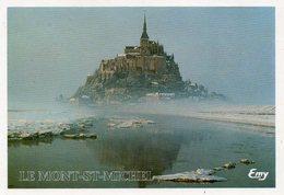 CPM - H2 - MANCHE - LE MONT SAINT MICHEL - SOUS LA NEIGE ET DANS LA BRUME - Le Mont Saint Michel